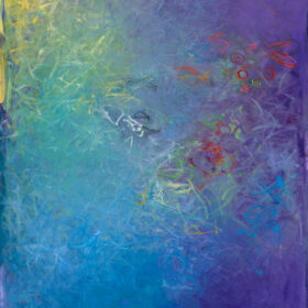 """Okeanos #2"", 40 x 30 inches, oil on canvas, 2015"