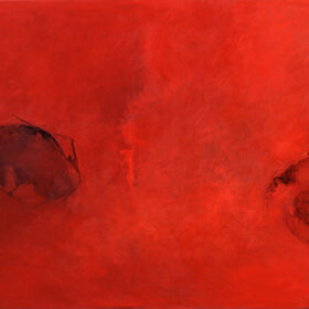 """""""Two-Wings-and-a-Violin"""",-50-x-65-inches,-oil-on-canvas,-2006-2010"""