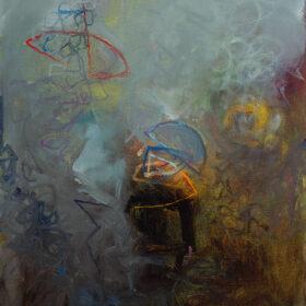 """His Alibi"", 14 x 11 inches, oil on canvas, 2018"