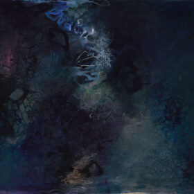 """""""On a Moonless Night"""", 30 x 40 inches, oil on canvas, 2018"""