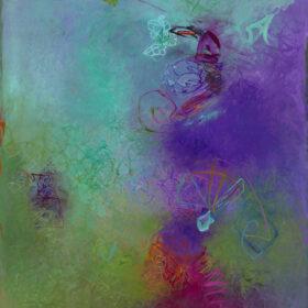 """Jacaranda"", 40 x 36 inches, oil on canvas, 2015-2018"