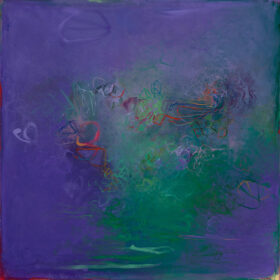 """Jacaranda 2"", 30 x 30 inches, oil on canvas, 2019"