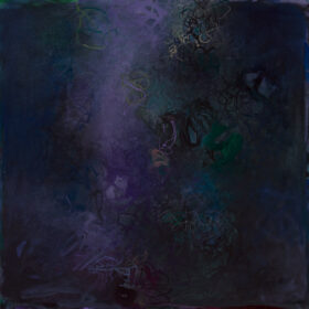 """Savan"", 30 x 30 inches, oil on canvas, 2018-2019"