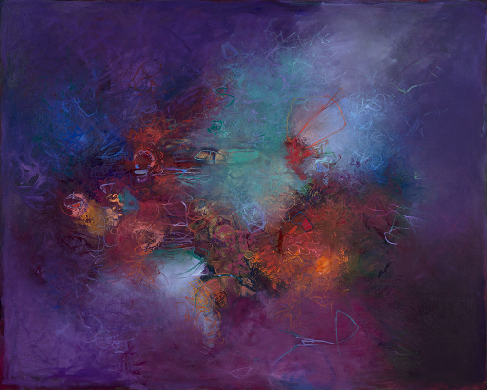 """Asterisms"", 48 x 60 inches, 2019 b"