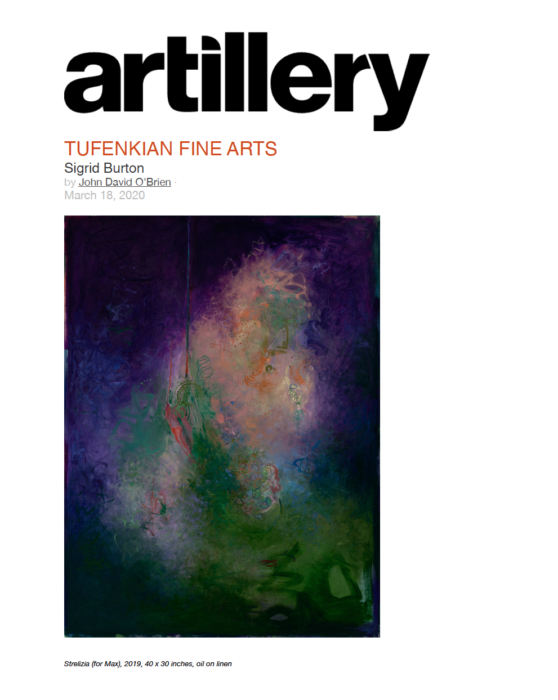 artillery Tufenkian Fine Arts Review John David O'Brien