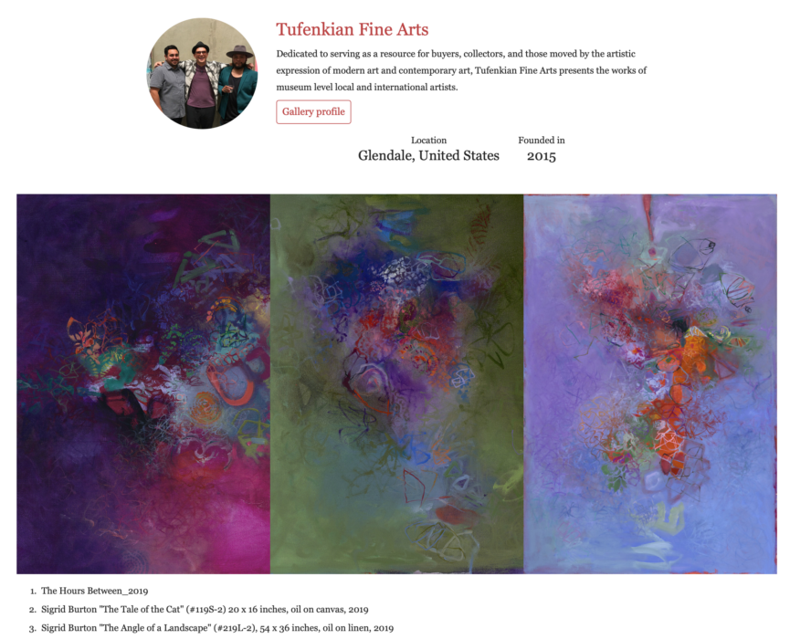Wall Street International Art Webpage
