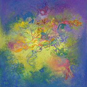 """""""A Light Exists in Spring"""", 40 x 40 inches, oil on linen, 2021"""