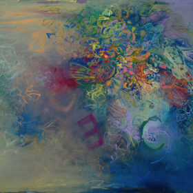 """""""After the Rain"""", 30 x 60 inches, oil on linen, 2021"""
