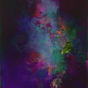 """""""Place of the Solitaires"""", 39.5 x 31.5 inches, oil on canvas, 2005-2021"""