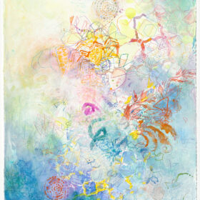 """""""Allegro #3"""", 29.75 x 22.5 inches, mixed media on paper, 2021"""