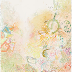 """""""In October"""", 29.75 x 22.25 inches, mixed media on paper, 2021"""
